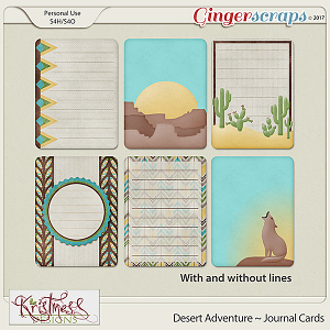Desert Adventure Journal Cards