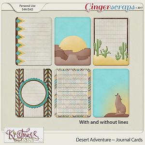 Desert Adventure Journal Cards