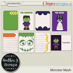Monster Mash JOURNAL CARDS by Heather Z Scraps