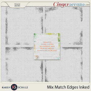 Mix Match Edges Inked by Karen Schulz