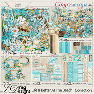 Life Is Better At The Beach: The Collection by LDragDesigns