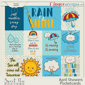 April Showers Pocket Cards