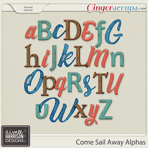 Come Sail Away Alpha Sets by Aimee Harrison