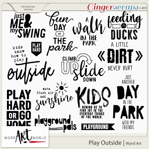 Play Outside Word Art