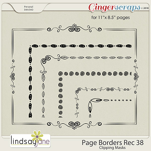 Page Borders Rec 38 by Lindsay Jane