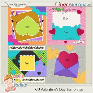 Valentine Day Templates -12x12 (CU Ok) by Cutie Pie Scraps