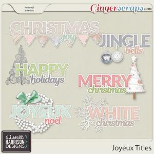 Joyeux Titles by Aimee Harrison