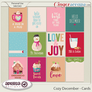 Cozy December - Cards by Aprilisa Designs