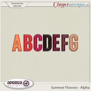 Summer Flowers - Alpha by Aprilisa Designs