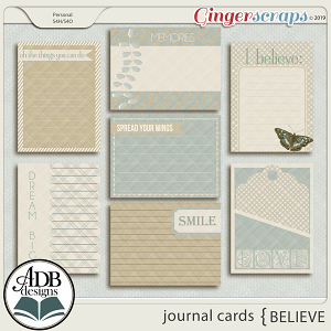 Believe Journal Cards by ADB Designs