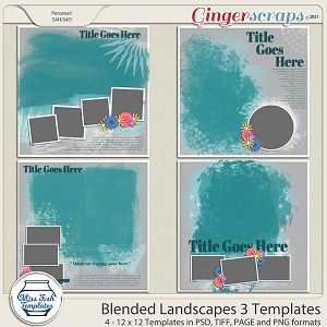 Blended Landscapes 3 Templates by Miss Fish