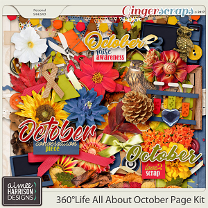 360°Life All About October Page Kit by Aimee Harrison