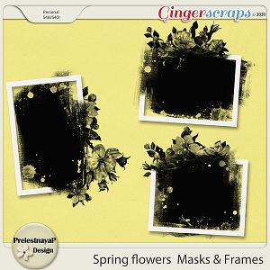 Spring flowers Masks & Frames