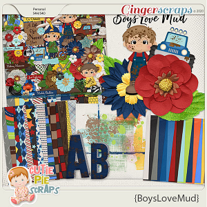Boys Love Mud Page Kit