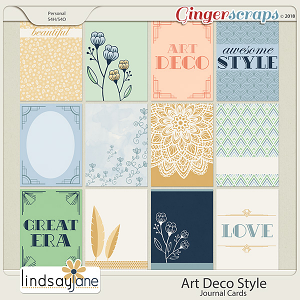 Art Deco Style Journal Cards by Lindsay Jane