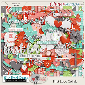 First Love Kit by Luv Ewe Designs and Blue Heart Scraps