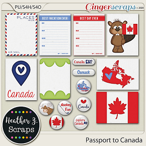Passport to Canada JOURNAL CARDS & FLAIRS by Heather Z Scraps