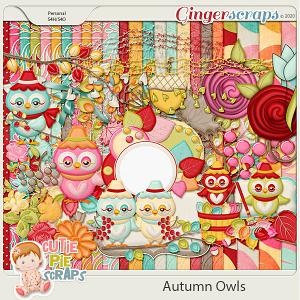 Autumn Owls Page Kit