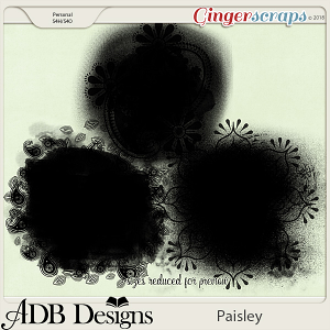 Paisley Masks by ADB Designs