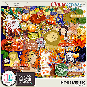In The Stars: Leo Page Kit by JB Studio and Aimee Designs