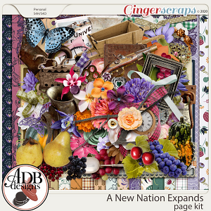 A New Nation Expands Page Kit by ADB Designs