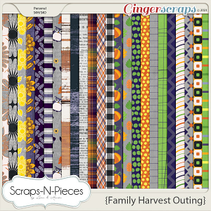 Family Harvest Outing Pattern Papers by Scraps N Pieces