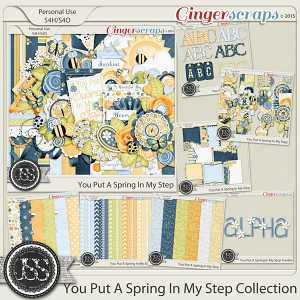 You Put A Spring In My Step Digital Scrapbook Collection