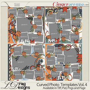 Curved Photo Templates Vol. 4 by LDrag Designs