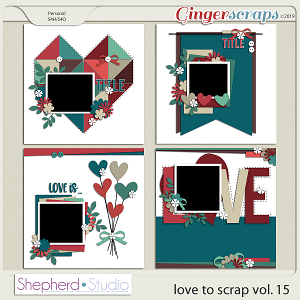Love to Scrap Volume 15 Templates by Shepherd Studio