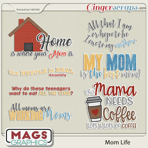 Mom Life WORD ART by MagsGraphics