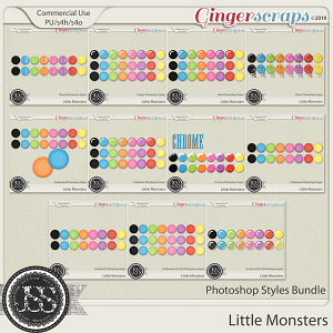 Little Monsters CU Photoshop Styles Bundle