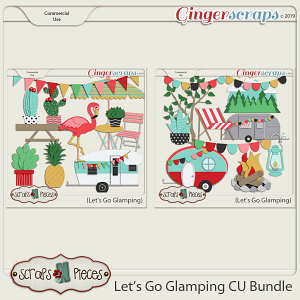 Let's Go Glamping CU Templates Bundle by Scraps N Pieces