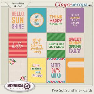 I've Got Sunshine - Cards by Aprilisa Designs