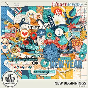 New Beginnings Page Kit by JB Studio