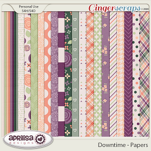 Downtime - Papers by Aprilisa Designs