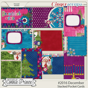 #2016 December - Stacked Pocket Cards