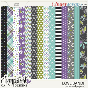 Love Bandit {Patterned Papers} by Jumpstart Designs