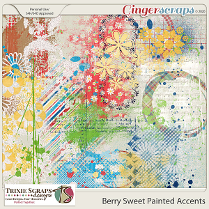 Berry Sweet Painted Accents by Trixie Scraps Designs