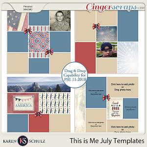 This is Me July Templates by Snickerdoodle Designs