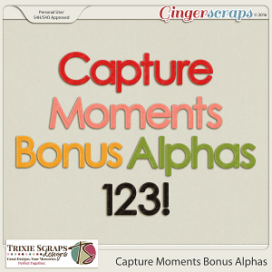 Capture Moments Bonus Alphas by Trixie Scraps Designs