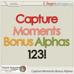 Capture Moments Bonus Alphas by Trixie Scraps Designs