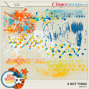 A Boy Thing Splatters by JB Studio