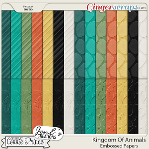 Kingdom Of Animals - Embossed Papers