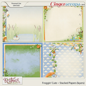 Froggin' Cute Stacked Papers (layers)