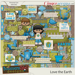 Love the Earth by BoomersGirl Designs