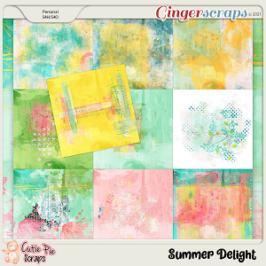 Summer Delight Painted Papers