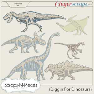 Diggin' For Dinosaurs CU1 - Scraps N Pieces