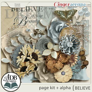 Believe Page Kit and Alpha by ADB Designs