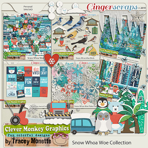 Snow Whoa Woe Collection by Clever Monkey Graphics
