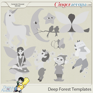 Doodles By Americo: Deep Forest Templates